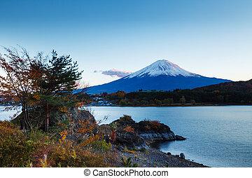 山, フジ, 中に, 日本