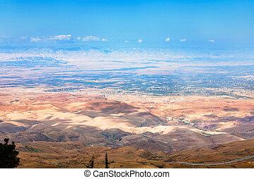 山, ヨルダン, nebo, 光景