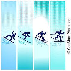 山, 冬 スポーツ