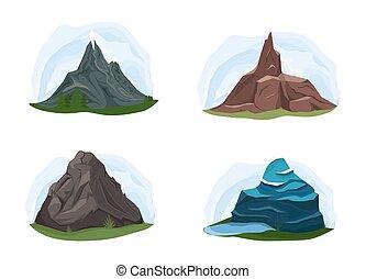 山。, 別, 形