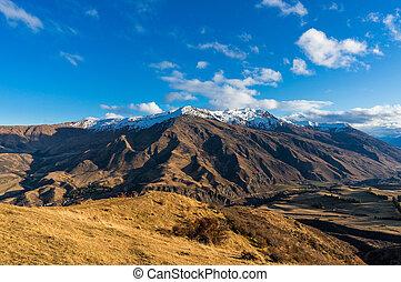 山, 叙事詩, 航空写真, 景色。, 谷, 光景
