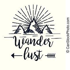 山, 多雪, 冒險, 箭, wanderlust