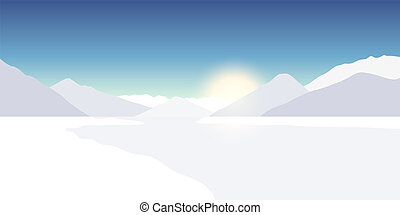 山, 多雪, 冬天風景, 自然
