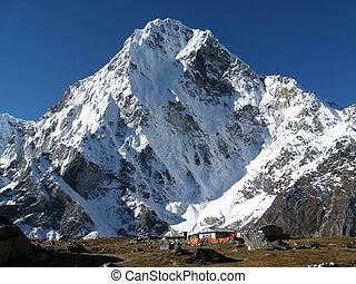 山, 多雪, 村莊