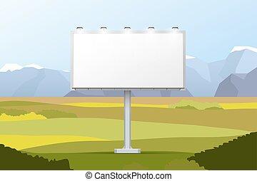 山, 套間, 領域, 插圖, 光, 背景, 風景, 廣告欄, 空