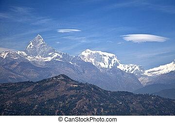 山, 尼泊爾, dhaulagiri-annapurna-manaslu, himalayan, 範圍