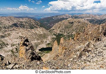 山, 岩が多い, 風景