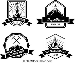 山, 徽章