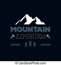 山, 徽章, 插圖