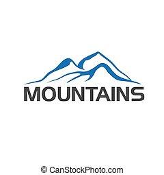 山, 抽象的, イラスト