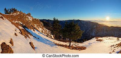 山, 斯洛伐克, 冬天風景