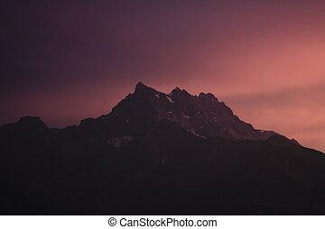 山, 日没