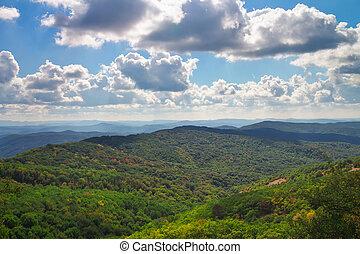 山, 景色。, 構成, の, 自然