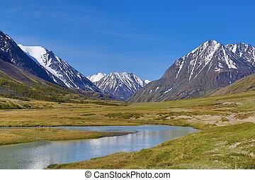 山, 河风景