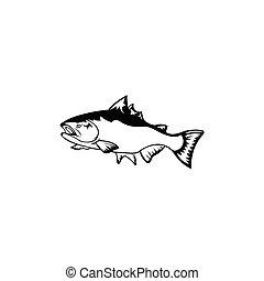 山, 河, fish
