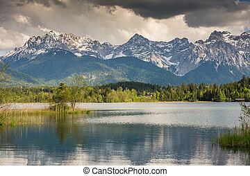 山, 湖, barmsee