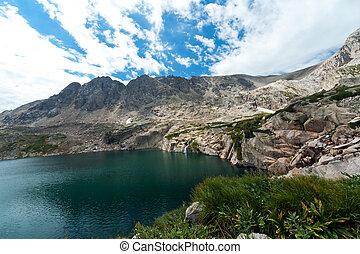 山, 滝, colorado, 湖