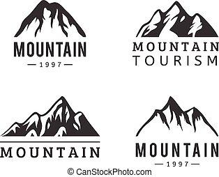 山, 矢量, 集合, 圖象