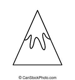 山, 紋章, 隔離された, アイコン