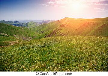 山, 綠色