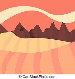 山, 自然, 丘, 風景