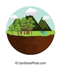 山, 自然, 風景