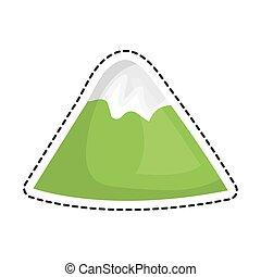 山, 被隔离, 風景, 圖象