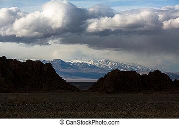 山, 西部, 風景, mongolia.