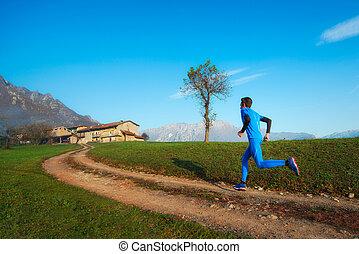 山, 訓練, 土, ランナー, 運動選手, 専門家