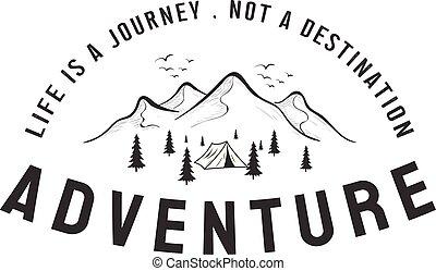 山, 設計, inspirations, 冒險, 標識語, 看法