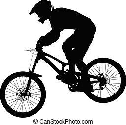 山, 運動選手, 自転車, biking, ライダー