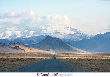 山, 道, mongolia