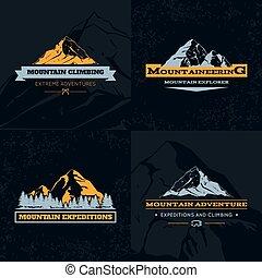 山, 集合, 象征, 樣板