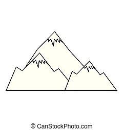山, 雪 場面