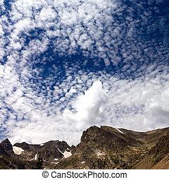 山, 雲, 風景