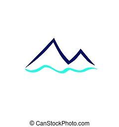 山, 青い符号, 川