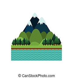 山, 風景, 背景, 自然