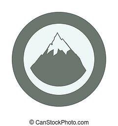 山, 高山, 雪, イラスト, ベクトル
