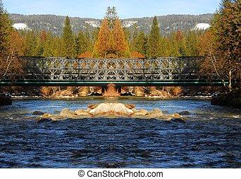 山, 2, 河, 橋梁