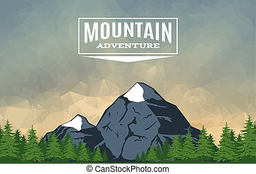 山, 3, 頂峰, 風景
