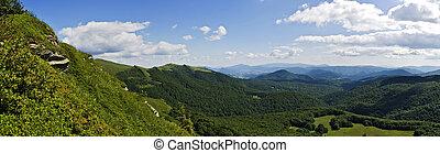 山, bieszczady, 绿色