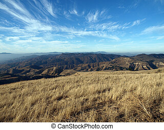 山, chatsworth, オート麦, 光景, california.