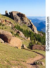 山, colorado, 岩が多い, ハイキング小道