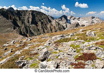 山, colorado, 岩が多い, 風景, 山