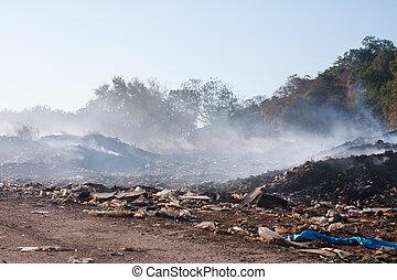 山, garbage., 燃焼