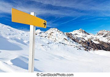 山, guidepost