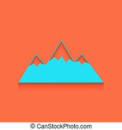 山, illustration., バックグラウンド。, 壁, 印, whitish, vector., れんが, アイコン