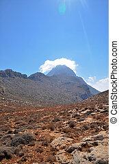 山, island., ほこりまみれである, ギリシャ語, 赤い道