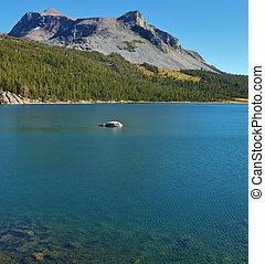 山, tioga., 湖, 絵のよう