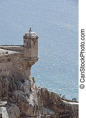 岗哨盒子, 在中, santa barbara, 城堡